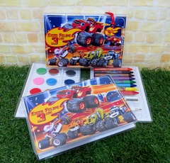 20 estojos Blaze and the monsters machines grandes lembrancinha Blaze Monster Machines com 31 itens completo - comprar online
