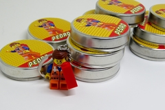 Kit 15 latinhas Lego Movie lembrancinha tema Lego Movie personalizada - comprar online