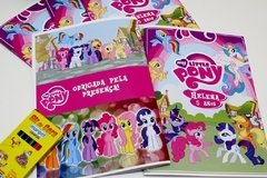 15 kits colorir revistinhas My Little Pony com giz e atividades - Festinha Legal