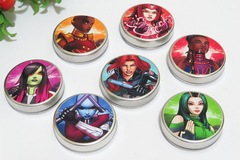 Kit 15 latinhas Super Heroinas lembrancinha tema heroinas girl power - Festinha Legal