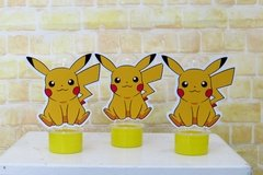 Kit 10 tubetes Pokemon Pikachu