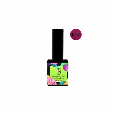 Esmalte Gel Tropical 017 Rosa Pink 8ml - Fan Nails