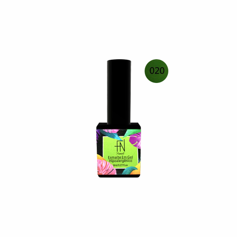 Esmalte Gel Tropical 020 Verde Vibrante 8ml - Fan Nails