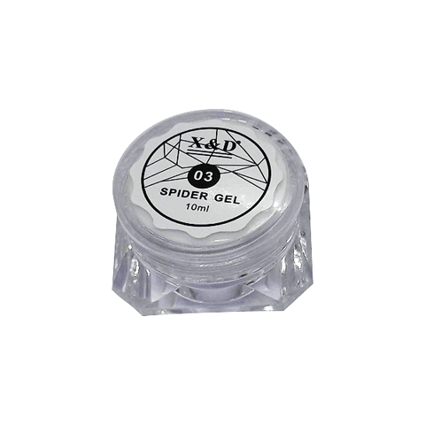 Spider Gel 03 Branco 10ml - X&D