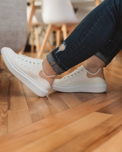 Zapas Vila color blanco y nude - Alucinna Trendy Shoes