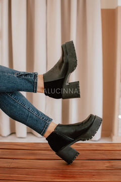 KOLSH NEGRO GAMUZA - Alucinna Trendy Shoes