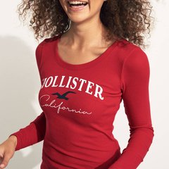 Camiseta HOLLISTER ribbed roja