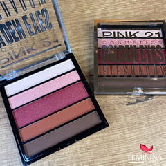 Paleta de Sombras Golden Eyes Pink 21 Cosmetics