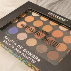 Paleta De Sombras Best 35 Cores Palette SP Colors