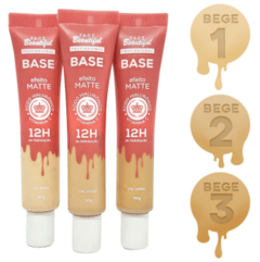 Base Efeito Matte Bege - Face Beautiful