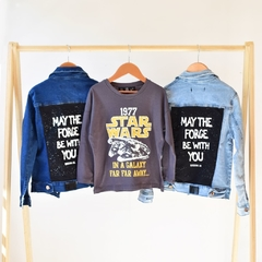 Campera Denim The Force Blue Kids - LOL Bohemian Kids