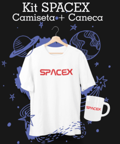 Kit Camiseta + Caneca SPACEX
