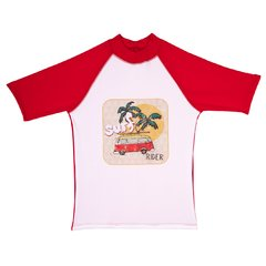 Remera Surf Wave Roja