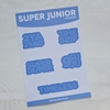 CARTELA DE ADESIVOS: SUPER JUNIOR