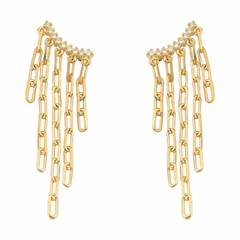 Ear Cuff Correntes - Ouro