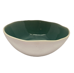 Bowl Vintage Color Verde Y Blanco
