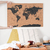 Black cork worldmap + pins