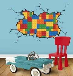 Vinilo Decorativo Pared Rota Lego. Wall Sticker