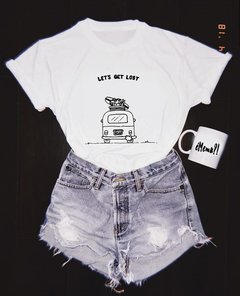 Camiseta Lets Get Lost na internet