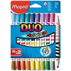 MARCADORES MAPED COLOR´PEPS DUO X 10