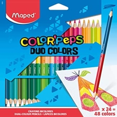 LAPICES MAPED BICOLOR COLOR´PEPS X 18