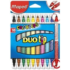 Marcadores Doble Punta Maped Color Peps Duo Tip 10 Colores