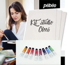 "Set ""Kit de Studio"" Carton Entelado  50 x 50 cm + 5 Oleos - comprar online"