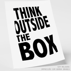 Quadro - Think Outside the Box - comprar online