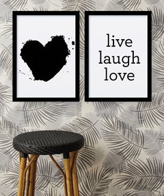 Kit de quadros - Live laugh love