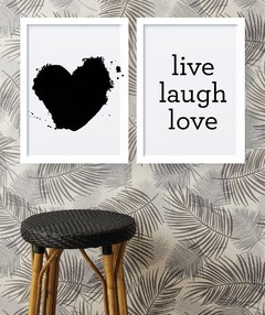 Kit de quadros - Live laugh love - comprar online