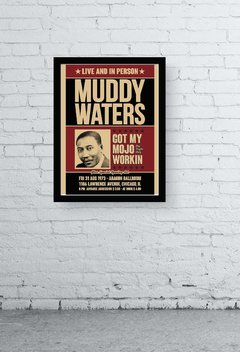 Quadro - Muddy Waters old poster