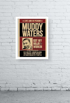 Quadro - Muddy Waters old poster - comprar online