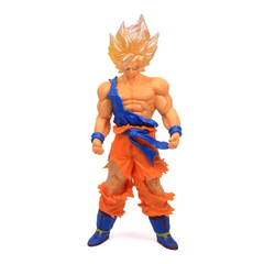 Boneco Dragon Ball Z Action Figure - Resurrection F Super Saiyajin Goku - Dourado 18cm