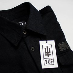CAMISA FLANELA ALL BLACK - yuf