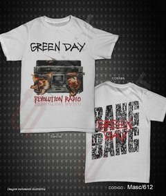 Camiseta, Regata ou Baby Look - Green Day (Revolution Radio)