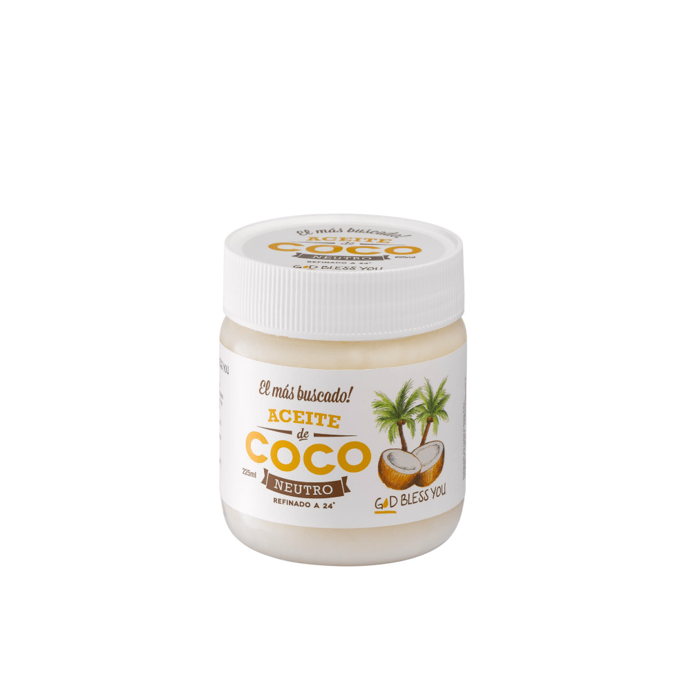Aceite de Coco Neutro 225 ml God Bless You
