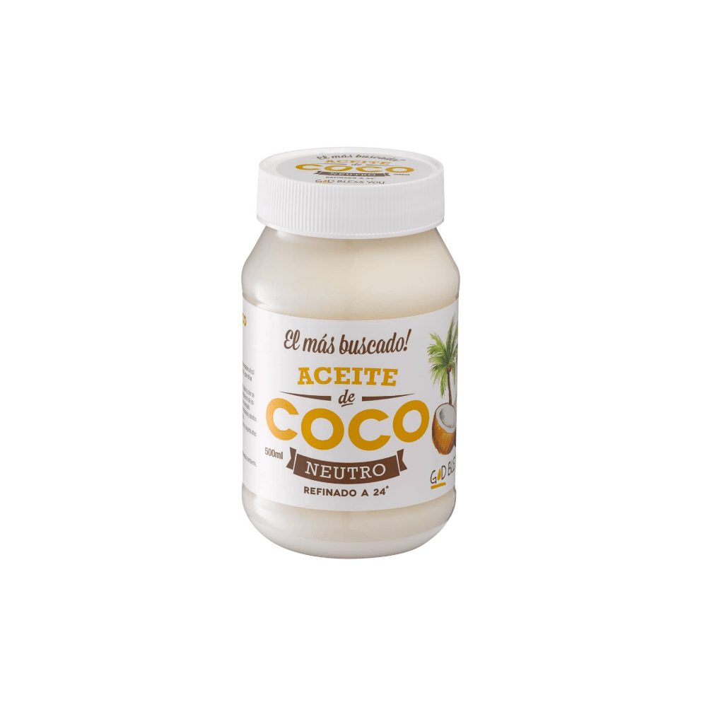 Aceite de Coco Neutro 500 ml God Bless You