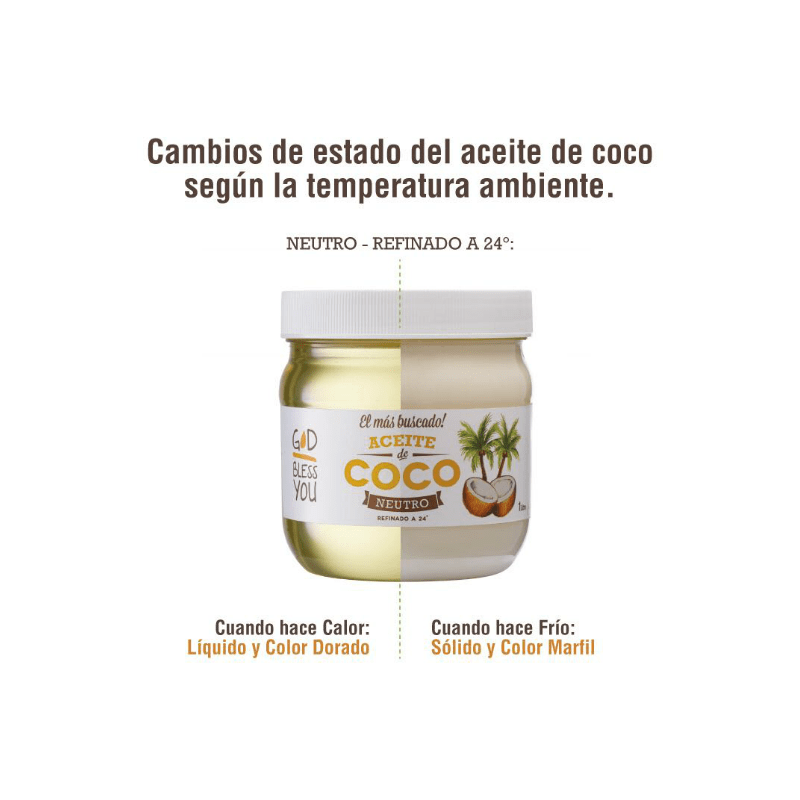 Aceite de Coco Neutro 225 ml God Bless You - comprar online