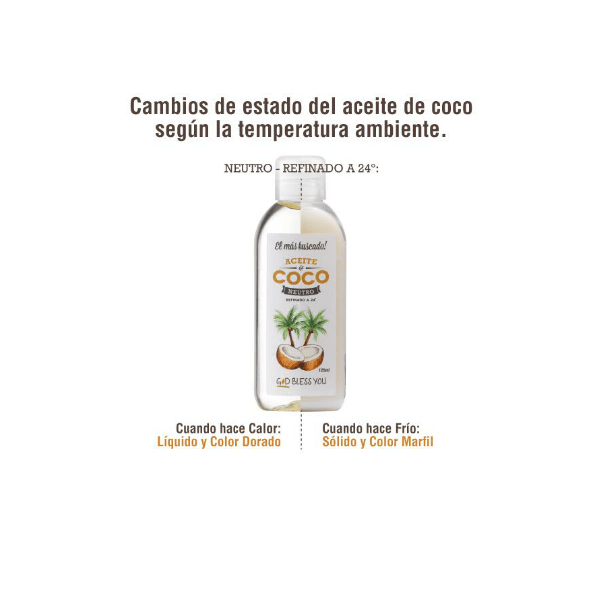 Aceite de Coco Neutro 125 ml God Bless You en internet