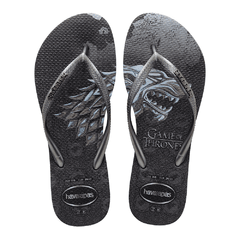 Chinelo Feminino Havaianas Slim Game Of Thrones Got Grafite