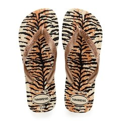 Chinelo Havaianas Feminino Top Animals Tigrada Colecao 2019