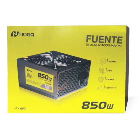 Fuente Pc Noga Gamer 850w Atx Cooler 12cm