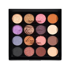 Kit de Sombras + Primer The Flowers 15 cores - Ruby Rose