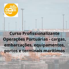 Curso Profissionalizante Operações Portuárias - cargas, embarcações, equipamentos, portos e terminais marítimos