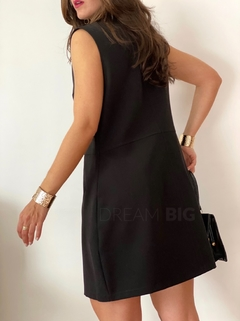 Vestido/chaleco sastrero Smith (negro) - DREAM BIG Showroom