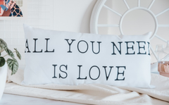 ALMOHADON ALL YOU NEED IS LOVE 25 X 55 CM