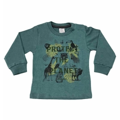 Art. 2478 - Remera bebé Protect The Planet - Blue Baby & Kids