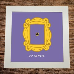 QUADRO DECORATIVO BRANCO - FRIENDS - PORTA RETRATO - 20x20cm
