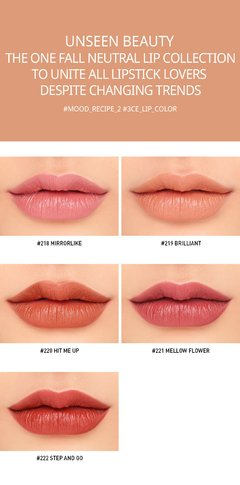 3CE - MOOD RECIPE MATTE LIP COLOR #218 Mirrorlike en internet