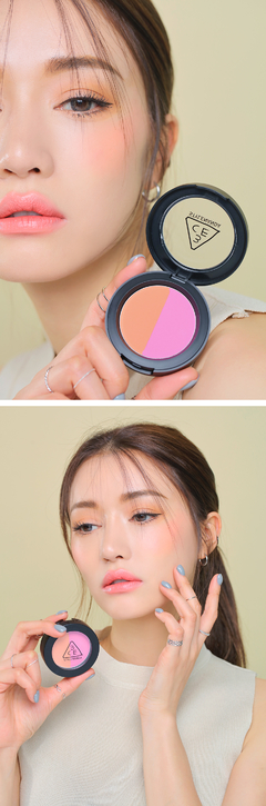 Imagen de 3CE DUO COLOR FACE BLUSH #MISS FLOWER